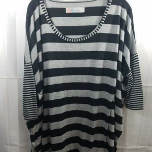 Free People Beach Striped Tunic Cover up one size